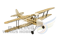 RC Plane DH82a Tiger Moth Biplane 1.4M Laser Cut Balsa Wood Model Aircraft Kit 4CH Electric & Gas Powered RC Airplane for Adults