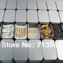 Size:94x59x21mm silver rectangle tin box/plain metal