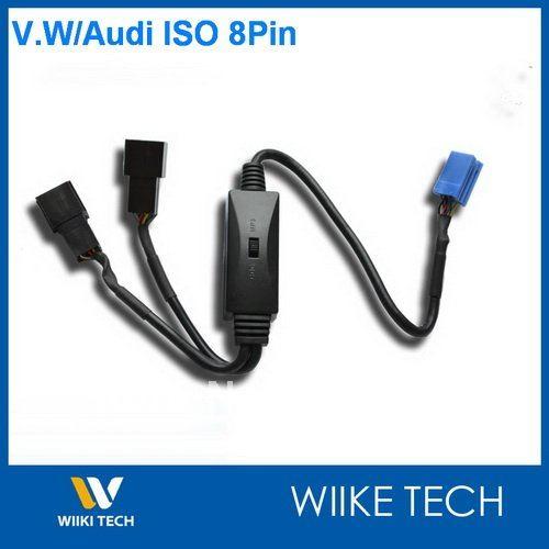 Auto MP3/CDC Schalter Für VW Audi Skoda Sitz ISO 8-pin Stecker mit CD Wechsler, Y-VW8P