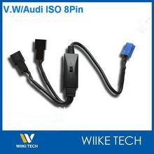 Автомобиль MP3/CDC Переключатель Кабель Для VW Audi Skoda Сиденья ISO 8Pin Разъем с Cd-чейнджером, Y-VW8P