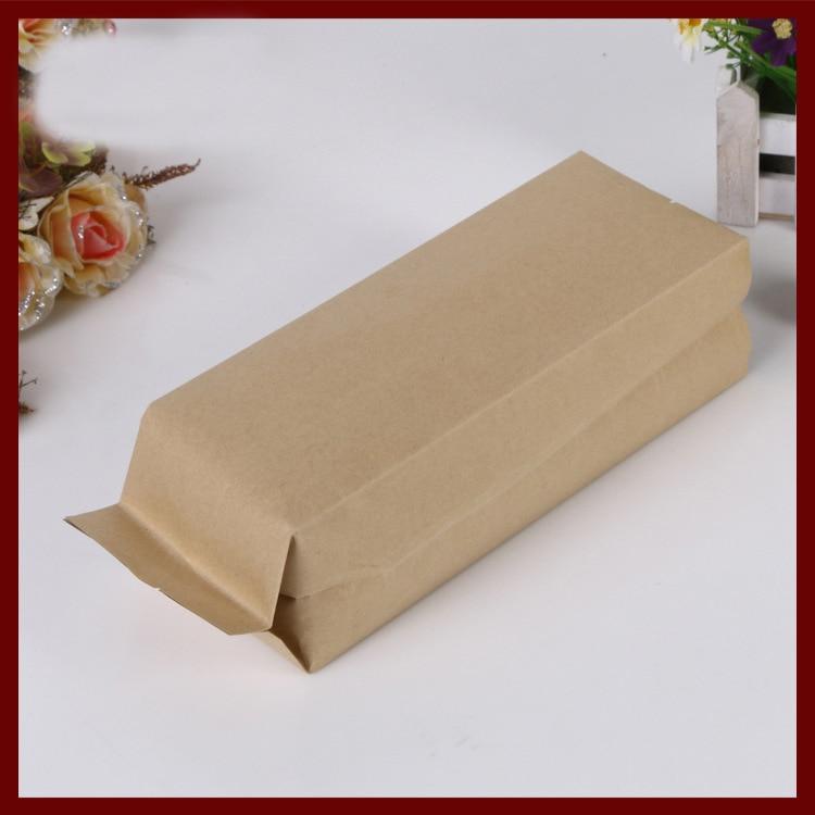 9*22+7cm 100pcs kraft paper Organ bag for gift/tea/candy/jewelry/bread Packaging Paper food bag diy Jewelry Pack Display