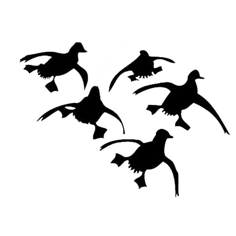 15*11.1CM Funny Flying Ducks Car Stickers Personality Vinyl Car Styling Decal Accessories Black/Silver C9-0796 funny ducks игрушка для ванной уточка цвет желтый