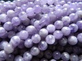 Wholesale (2 strands/set) miracle natural  lavender Amethyst  8mm smooth round european loose beads stone