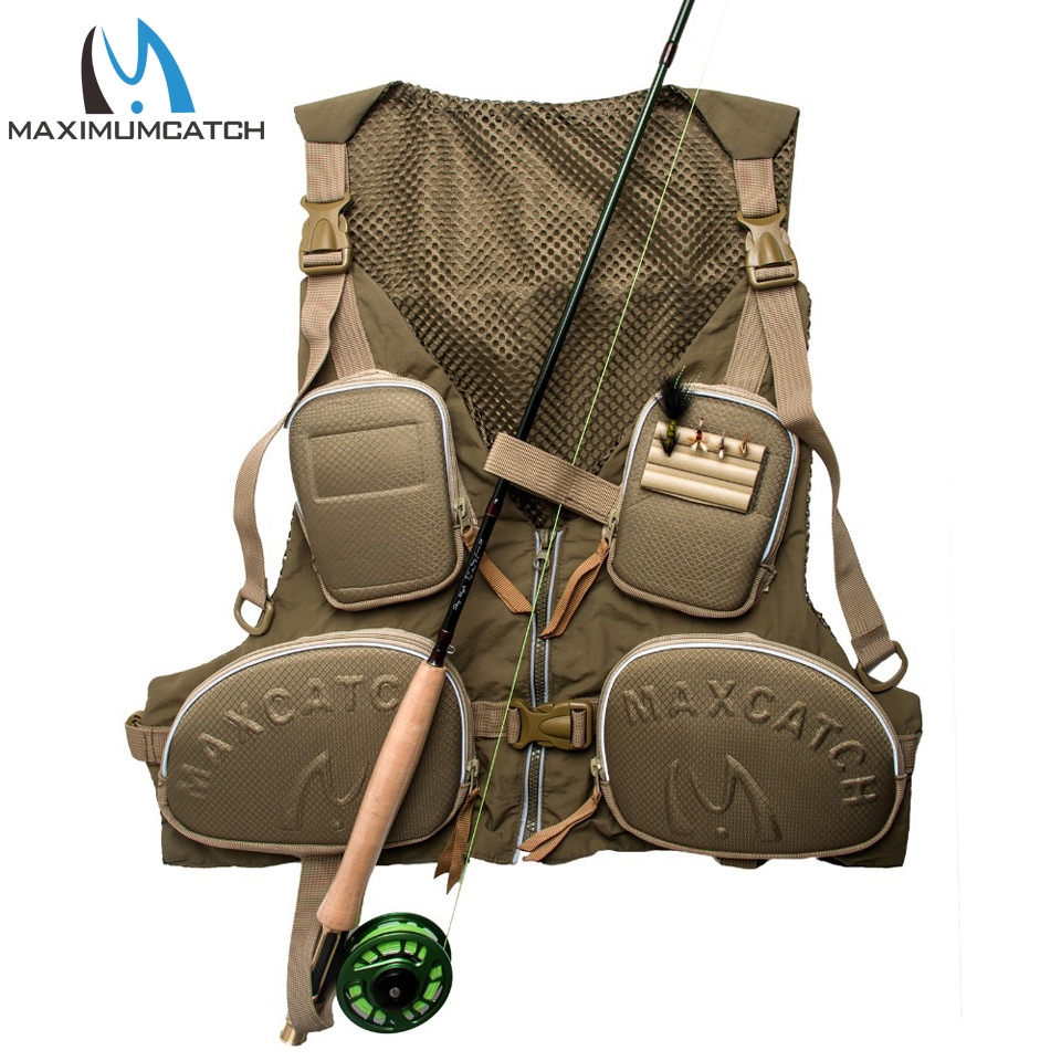Maximumcatch New Fishing Vest Fishing Pack Outdoor Handy Adjustable Fly Vest