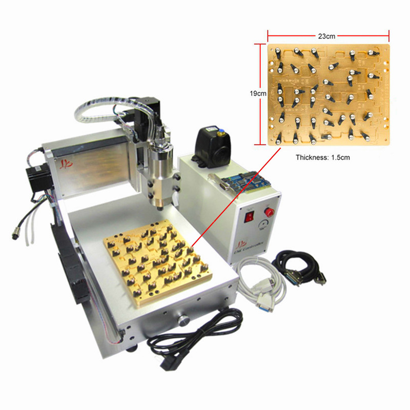 CNC router Milling Polishing Engraving Machine for iPhone Main Board Repair 30*20cm for iphone main board repair ly ic cnc router 3040 mould 10 in 1 cnc polishing engraving machine eu free tax