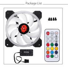 120mm Adjustable RGB LED CPU Cooling Fan Computer Cooler RGB Silent CPU Cooling Fans Radiator Heatsink Controller Remote For PC(China)