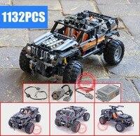 New Motor Power Function Technic Off Roader fit legoings technic 8297 Model Building Blocks Bricks toys for children kid gift