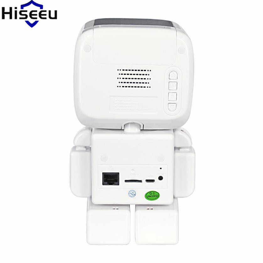 Мини WiFi Робот 960P IP Камера беспроводные Часы сети HD монитор для детей Дистанционное Управление домашней безопасности Ночное видение двухстороннее аудио 39