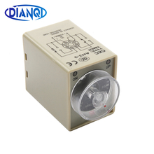 AC 220V Delay Timer Time Relay 0~60 Seconds 0~60 Minutes AH3-3 with socket base relay