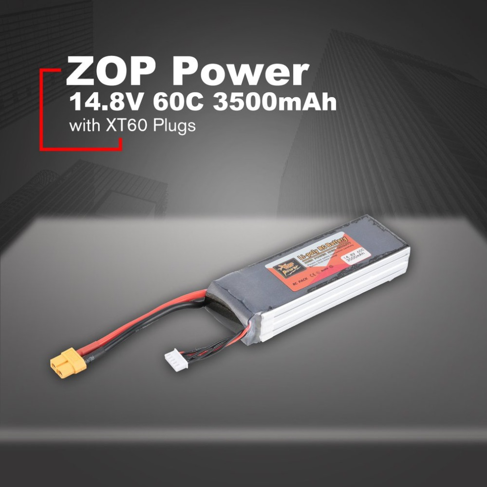 ZOP Power 14.8V <font><b>3500mAh</b></font> 60C <font><b>4S</b></font> 1P <font><b>Lipo</b></font> Battery XT60 Plug Rechargeable for RC Racing Drone Quadcopter Helicopter Car Boat image
