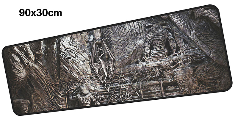 skyrim mousepad gamer 900x300X3MM gaming mouse pad large High-end notebook pc accessories laptop padmouse ergonomic mat
