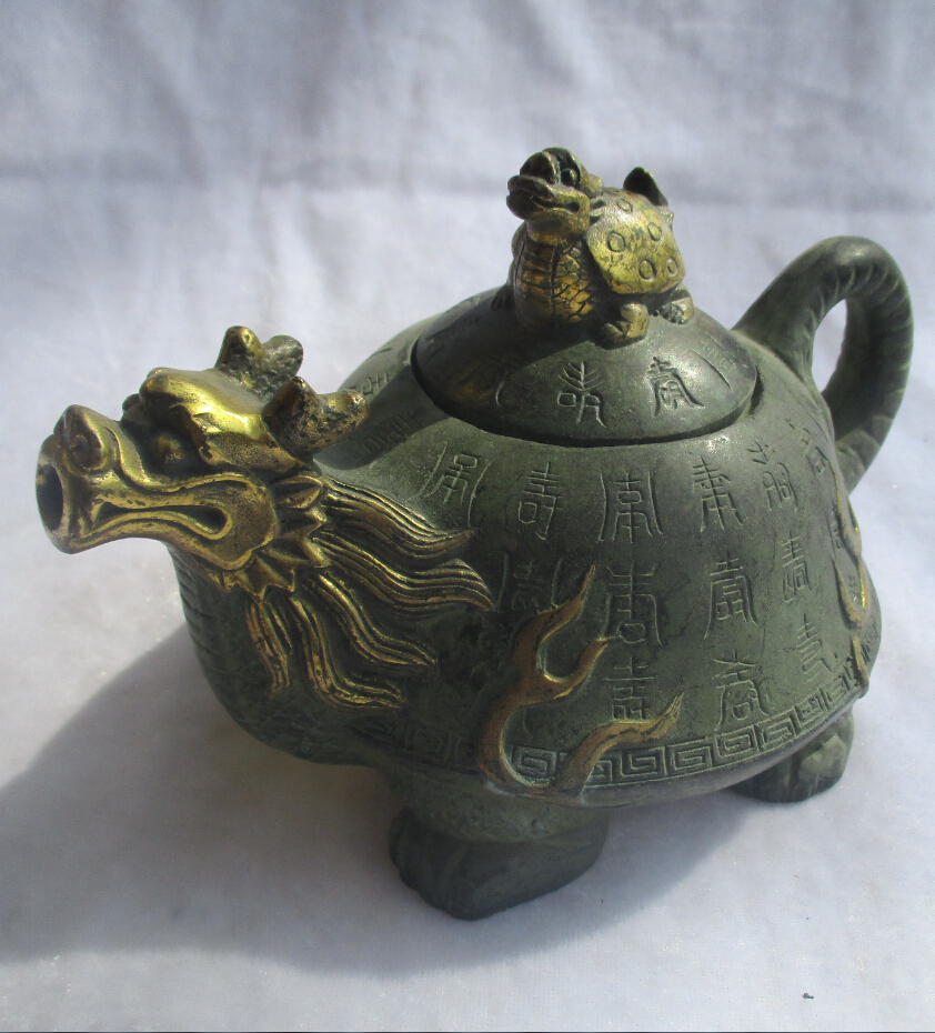 Chinese Old Bronze Gold gilt Carved
