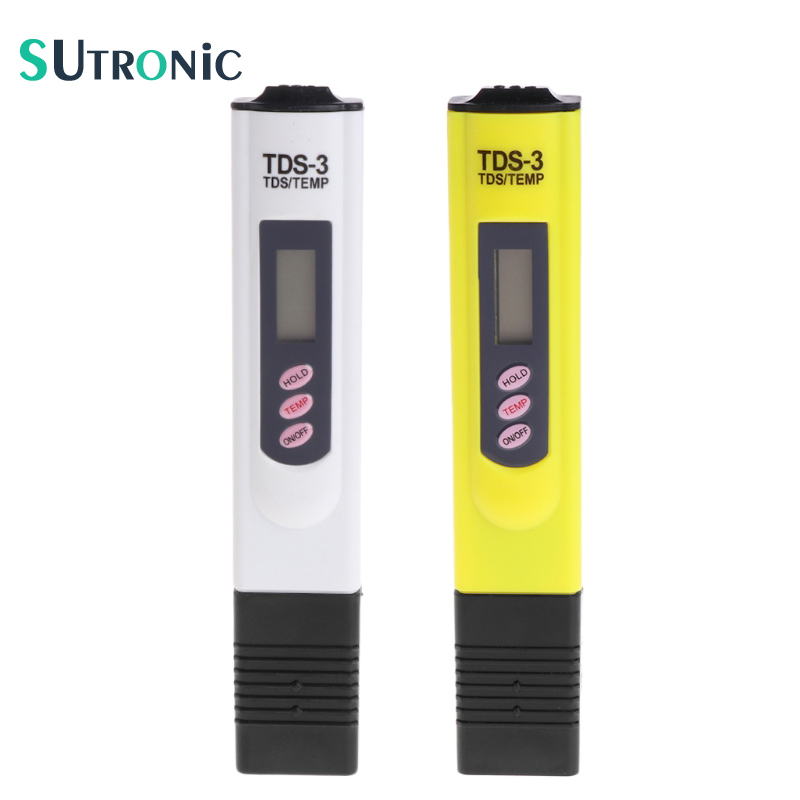 High Quality Digital LCD Water TDS Meter Quality Testing Pen Purity Filter PH Meter 0-9990 PPM Portable TEMP/PPM Water Quality solder type bnc plug for surveillance camera cable
