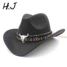 Женская и Мужская шерстяная полая ковбойская шляпа с широкими полями, ковбойская, джазовая, конная, сомбреро, кепка с кисточкой, Таурен, лента