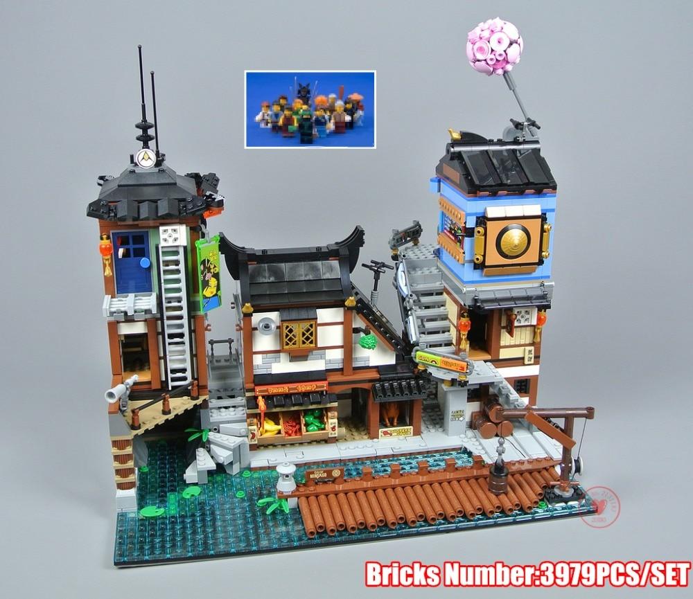 New Ninja movie City Port Kai Jay Cole fit legoings 70657 Ninjagoings Figures Model Building Block Bricks Kids Toys Gift