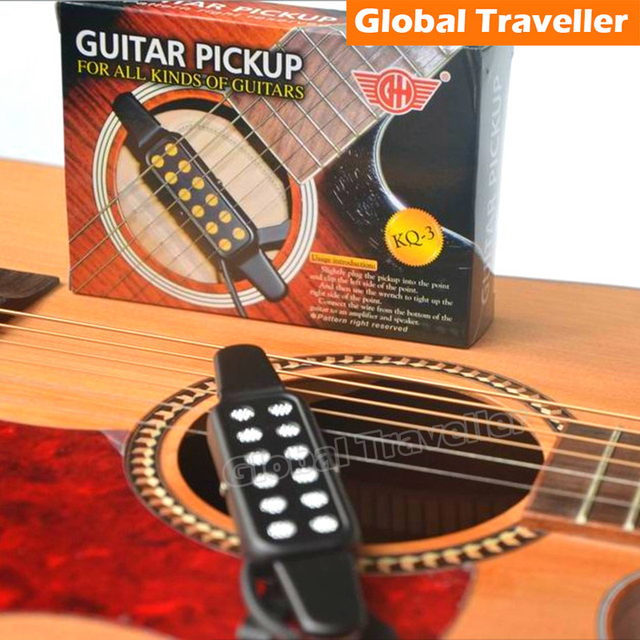 No-punching&Battery required Clamp type Clip-on Acoustic Guitar Pickup Sound Amlifier for Acoustic/Folk/Wood/Classical Guitar
