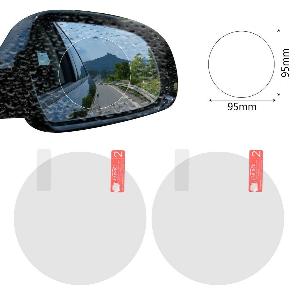 2PCS/Set Anti Fog Car Mirror Window Clear Film Anti-glare Car Rearview Mirror Protective Film Waterproof Rainproof Car Sticker 11