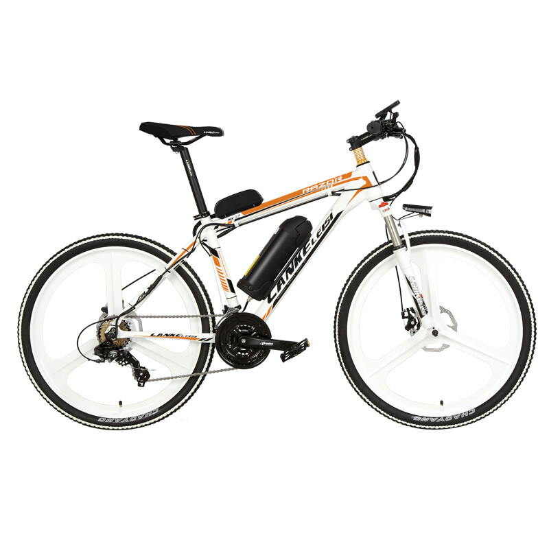 26 Inch 5 Grade Assist 48V 10Ah Strong Battery Electric Mountain Bike,with 3.5 Inches Big Bicycle Computer, 7 Speed