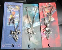30 Pcs Lot Anime Final Fantasy Necklaces Pendants Game Final Fantasy 8 Pendants 3 Styles For