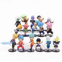 """Dragon Ball Super PVC juguetes figuras Super Saiyan Rosa Goku troncos Vegeta gran sacerdote Zamasu """"Monaka a Cabba 16 unids/set"""