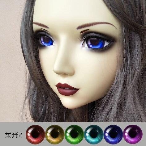 Novelty & Special Use Sweet Girl Resin Half Head Bjd Kigurumi Mask With Eyes Cosplay Anime Role Lolita Mask Crossdress Doll Comfortable Feel gl060