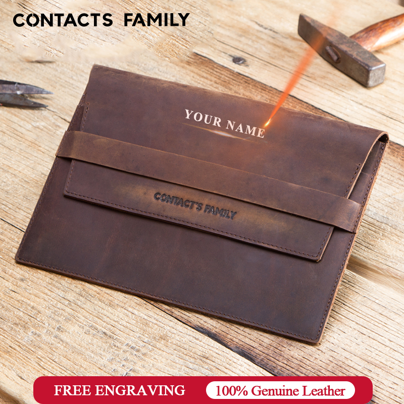 Personalized Rustic Genuine Leather Sleeve Case Pouch For IPad Mini 7.9 Inch Unique Personal For IPad Mini 2 3 4 5 Tablet Sleeve