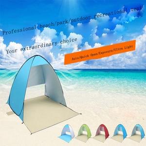 Image 5 - אוטומטי קמפינג אוהל ספינה מru חוף אוהל 2 אנשים אוהל מיידי צצים פתוח אנטי UV סוכך אוהלי חיצוני sunshelter