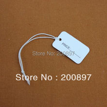 wholesale small jewelry Hang Tag accessories price tag 1.5*2.5cm with elastic string 500pcs/lot