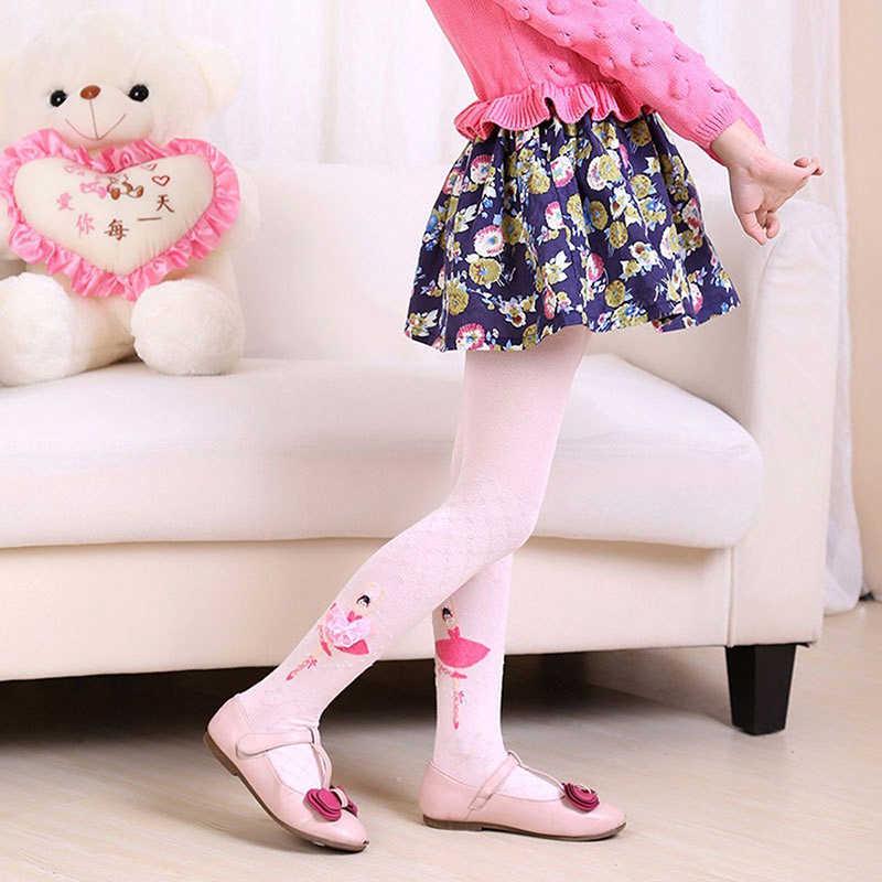 Детские Балетные колготки, От 4 до 12 лет, детские колготки для танцев с милыми рисунками, колготки для девочек, детские бархатные Волшебные чулки, рождественские, белые, розовые