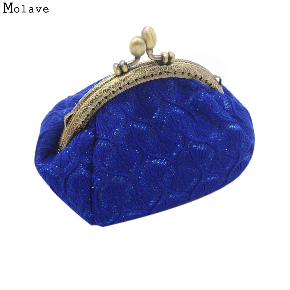 Naivety Coin Purse drop shipping New Gift Women Bag Vintage Lace Small Coins Pocket Wallet Hasp Clutch AUG18 naivety new fashion women tassel clutch purse bag pu leather handbag evening party satchel s61222 drop shipping