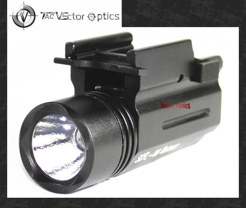 optica do vetor compacto tatico iluminador lanterna led 200 lumen tocha com 20mm weaver montar arma