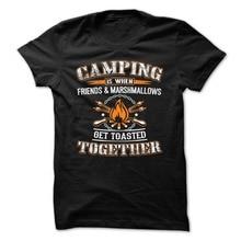 T Shirt 2018 New Short Sleeve Awesome Campinger Men O-Neck Shirts