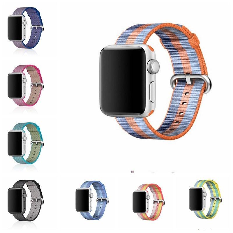 Woven Nylon strap For Apple Watch Band 42mm 38mm Sport Loop Bracelet Wrist Belt Fabric-like watchband For iwatch Series 3/2/1 mu sen colorful nylon apple watch nylon watchband for series 42mm 38mm fabric like strap iwatch 3 2 1 wrist band nylon watchban