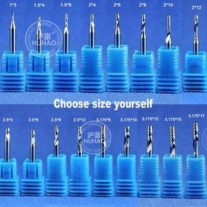 2016 фрезы Fresa 3 шт. 3,175 мм AA серии Одна Флейта Спираль акриловый Режущий конец фрезы вольфрамовые инструменты 2А Карбид K55