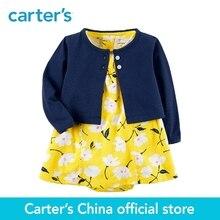 Mother Kids - Baby Clothing - Carter's 2-Piece Baby Children Kids Clothing Girl Spring & Summer Cotton Bodysuit Floral Print Dress & Cardigan Set 121I190