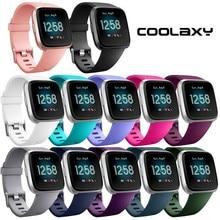 Coolaxy רך סיליקון החלפת להקת עבור Fitbit Versa/Versa לייט להקת צמיד שעון רצועת עבור Fitbit Versa צמיד נשים