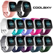 Coolaxy Soft Silicone Replacement Band For Fitbit Versa/Versa Lite Band Wristband Watch Strap For Fitbit Versa Bracelet Women