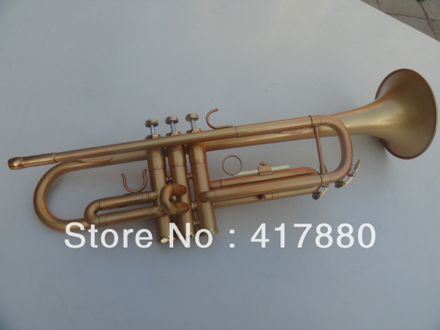 High Quality Bb Trumpet 1335 Surface Gold Lacquer Brass Trumpet Musical Instruments With Black Case high quality pump bb b40y1
