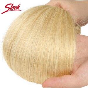 Image 4 - Sleek Bunte Haar Nerz Brasilianische Haarwebart Bundles10 To26 Zoll Honig Blonde 613 # Farbe Gerade Bunles Remy Haar Verlängerung
