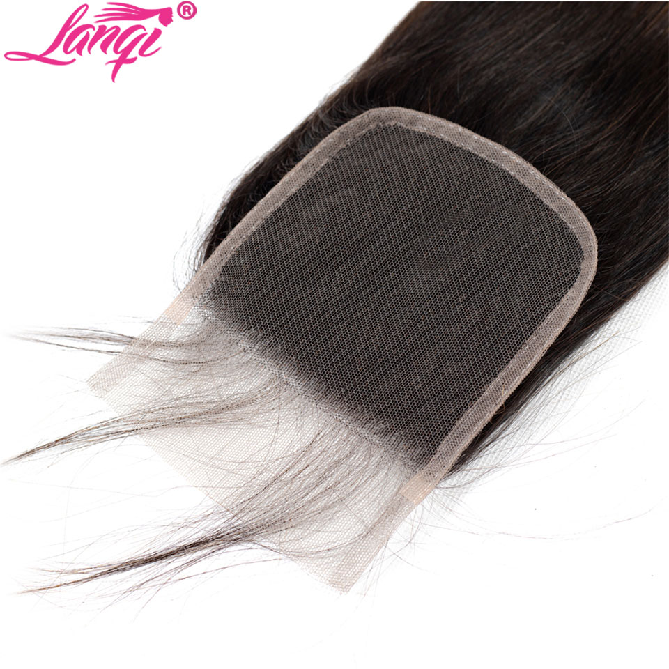 Image 5 - Brazilian Straight human hair weave bundles with closure blonde bundles with closure 1b/4/27 3 tone ombre bundles with closure-in 3/4 Bundles with Closure from Hair Extensions & Wigs