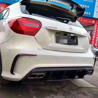 Car Styling High Quality Carbon Fiber Rear Diffuser Rear Bumper Protector Covers 2Pcs For Benz W176 A45 2013 2018