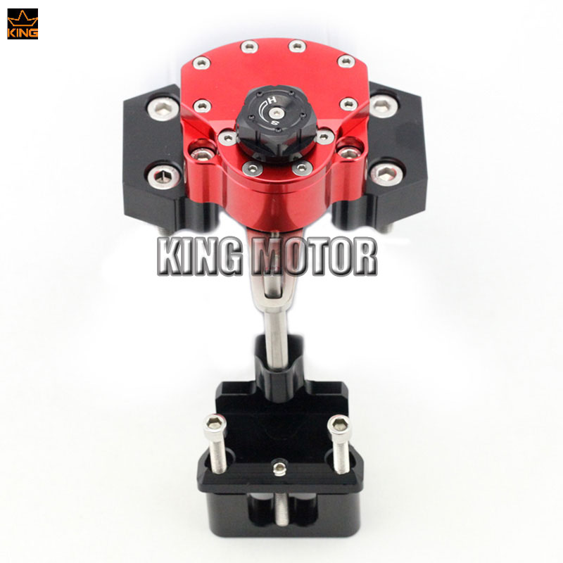 For KAWASAKI Z250 Z 250 2013-2014 Z300 2015-2016 Motorcycle Accessories Steering Damper Stabilizer with Mounting Bracket kit Red for ktm 200 duke 2013 2015 390 duke 2014 2015 2016 motorcycle accessories steering damper stabilizer with mounting bracket kit