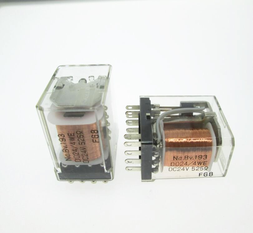 HOT NEW 24V relay Na.BV.193 D024/4WE DC24V 525 Na.BV.193 D024-4WE DC24V 24VDC 24V 14PIN hot new relay nt73 2c 12 dc24v nt73 2c 12 dc24v nt732c12 nt73 2c nt73 dc24v 24vdc 24v dip5