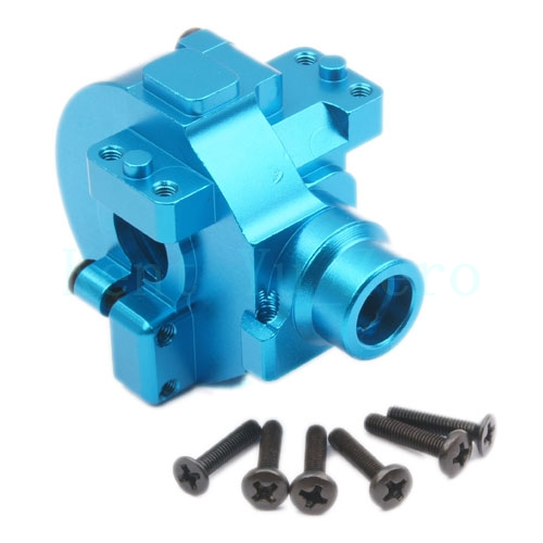 Aluminium Gear Box Upgrade Parts 122075 Blue For 1/10 RC Car HSP Redcat Himoto 82910 ricambi x hsp 1 16 282072 alum body post hold himoto 1 16 scale models upgrade parts rc remote control car accessories