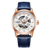 Automatical Mechanical Watches Men Luxury Brand Wrist Watch Male Clock Leather Wristwatch Men Skeleton Army Military