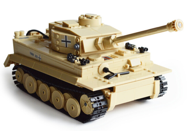 mylb New Tank Series WW2 Germany the Panzerkampfwagen VI Ausf. E Tiger I model Building Block Classic toy Compatible with DIY soundcraft vi series madi card