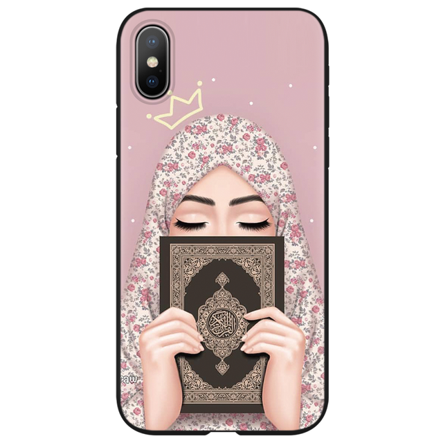 Muslim Islamic Hijab Gril Eye Queen TPU Cases for iphone 6 6S 7 8 Plus Cover FOR iphone X XS Max XR Case for iphone 10 5 5S SE 5