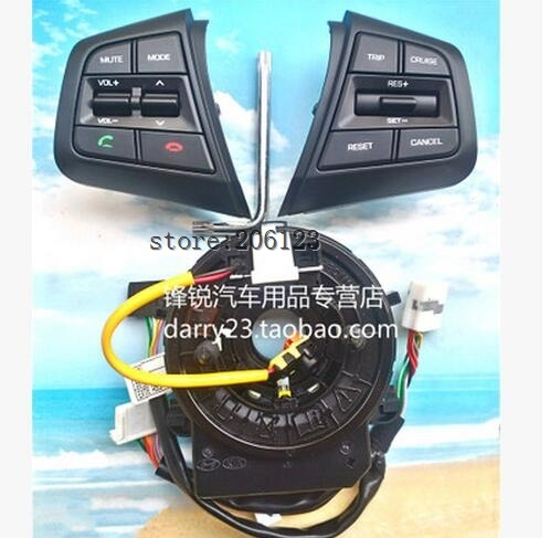 For Hyundai ix25 (creta) 1.6L Steering Wheel Cruise Control Buttons Remote Control Volume channel Bluetooth Phone Button lzh 40km h 4 wheel electric skateboard dual motor remote wireless bluetooth control scooter hoverboard longboard