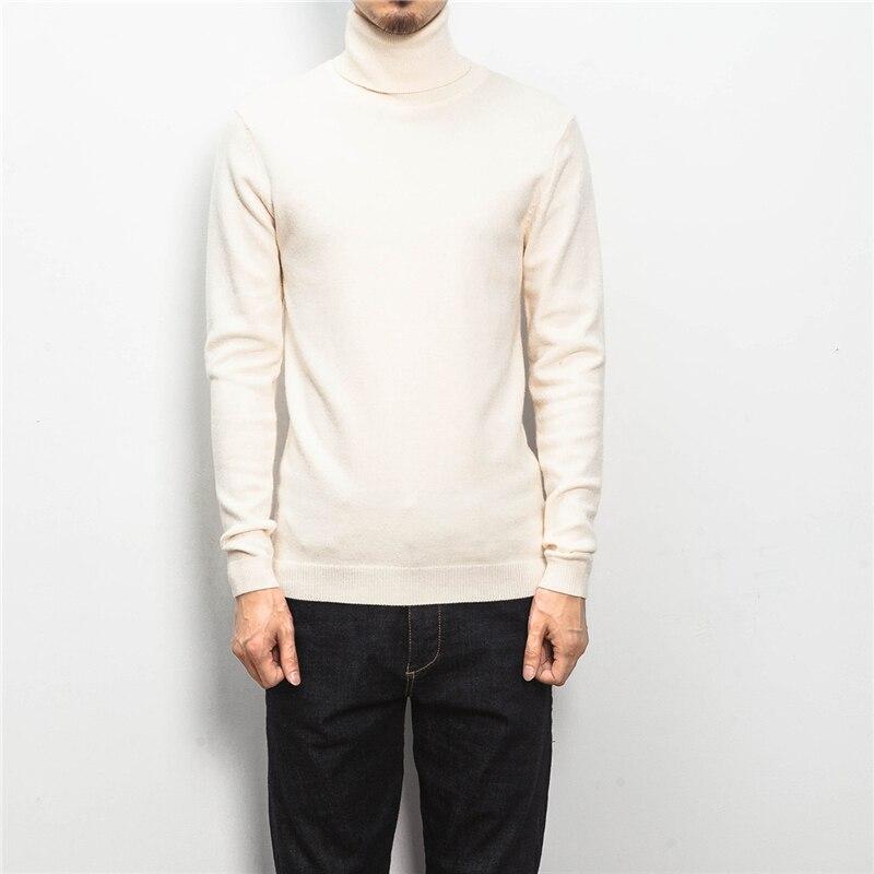 ZhenZhou Solide Slim Fit Pullover Männer Strickwaren Herren Pullover - Herrenbekleidung - Foto 4