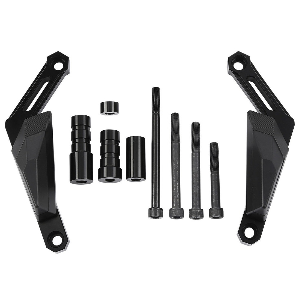Left Right Black Protectors Frame Slider Kit For Yamaha MT 09 Sport Tracker XSR900 2014 2016 in Falling Protection from Automobiles Motorcycles
